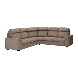 LIDHULT - corner sofa-bed, 5-seat, Lejde beige/brown   IKEA Hong Kong and Macau - PE689001_S3