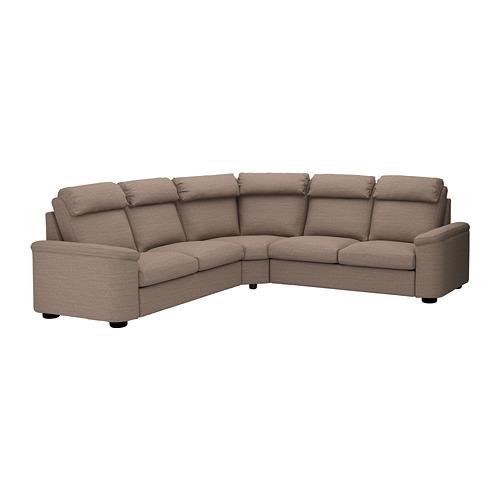 LIDHULT - corner sofa-bed, 5-seat, Lejde beige/brown | IKEA Hong Kong and Macau - PE689001_S4