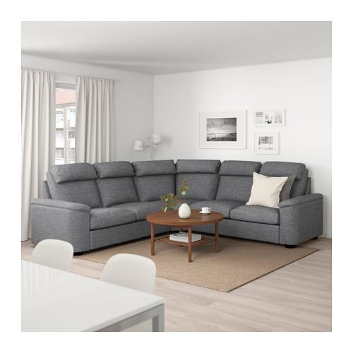 LIDHULT - 五座位角位梳化, Lejde 灰色/黑色   IKEA 香港及澳門 - PE689004_S4