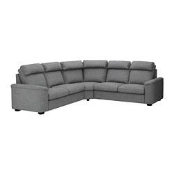 LIDHULT - 5座位角位梳化床, Lejde 灰色/黑色 | IKEA 香港及澳門 - PE689003_S3