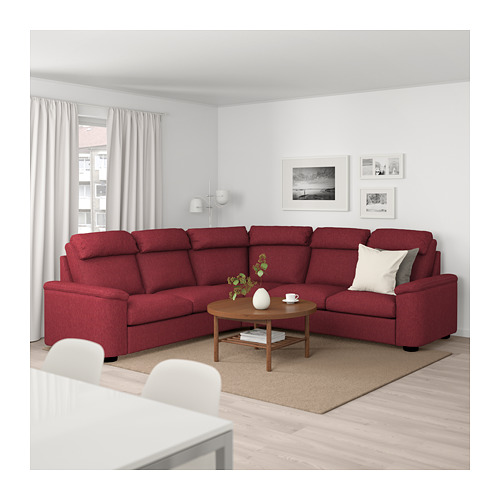 LIDHULT - corner sofa, 5-seat, Lejde red-brown | IKEA Hong Kong and Macau - PE689006_S4