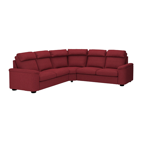 LIDHULT - corner sofa, 5-seat, Lejde red-brown | IKEA Hong Kong and Macau - PE689005_S4