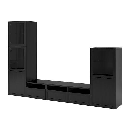 BESTÅ - 電視貯物組合/玻璃門, 棕黑色/Hanviken 棕黑色/透明玻璃 | IKEA 香港及澳門 - PE731935_S4