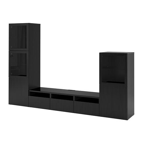 BESTÅ - 電視貯物組合/玻璃門, 棕黑色/Lappviken 棕黑色/透明玻璃 | IKEA 香港及澳門 - PE731936_S4