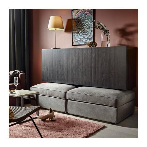 BESTÅ - wall-mounted cabinet combination, black-brown/Lappviken black-brown | IKEA Hong Kong and Macau - PH143729_S4