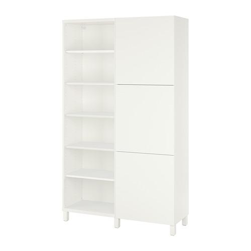 BESTÅ - storage combination with doors, white/Lappviken/Stubbarp white | IKEA Hong Kong and Macau - PE731957_S4