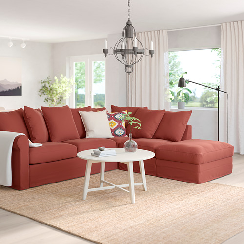 GRÖNLID - 4座位角位梳化床, 開放式/Ljungen 淺紅色   IKEA 香港及澳門 - PE786619_S4