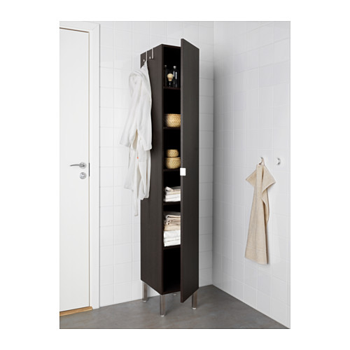 LILLÅNGEN - high cabinet with 1 door, black-brown | IKEA Hong Kong and Macau - PE576281_S4