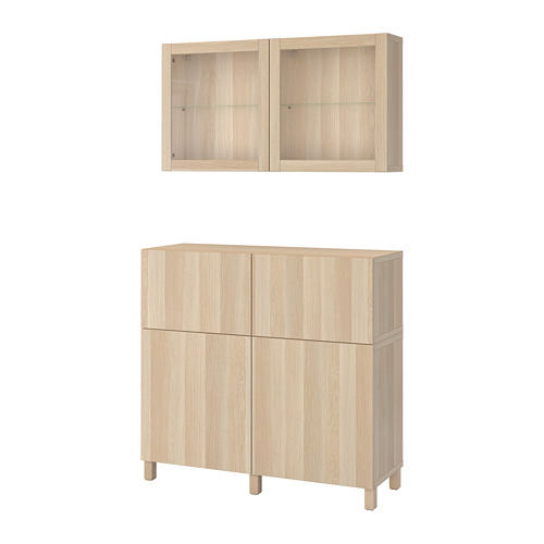 BESTÅ storage combination w doors/drawers