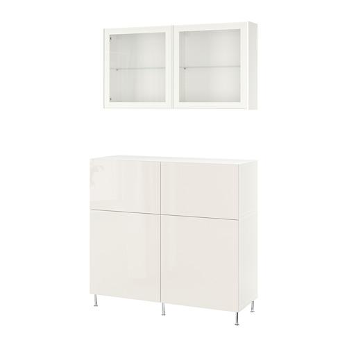 BESTÅ - storage combination w doors/drawers, white/Selsviken/Stallarp high-gloss/white clear glass | IKEA Hong Kong and Macau - PE731978_S4