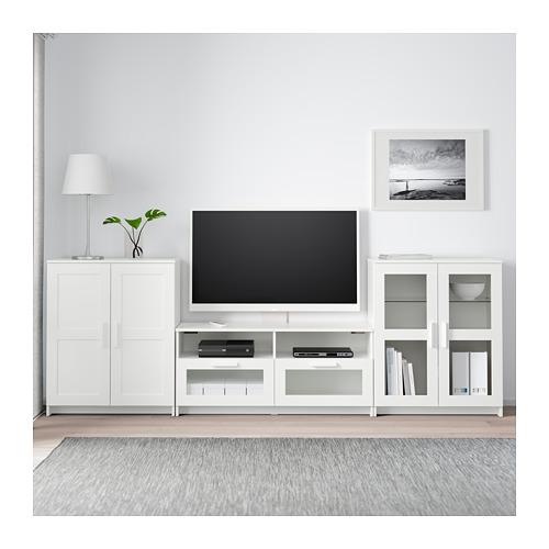 BRIMNES - TV storage combination/glass doors, white | IKEA Hong Kong and Macau - PE689081_S4