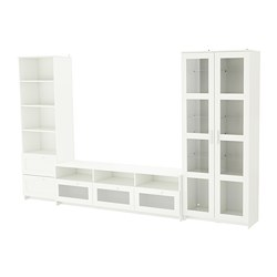 BRIMNES - TV storage combination/glass doors, white | IKEA Hong Kong and Macau - PE689095_S3