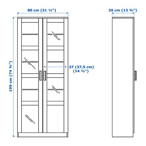 BRIMNES 玻璃門貯物櫃