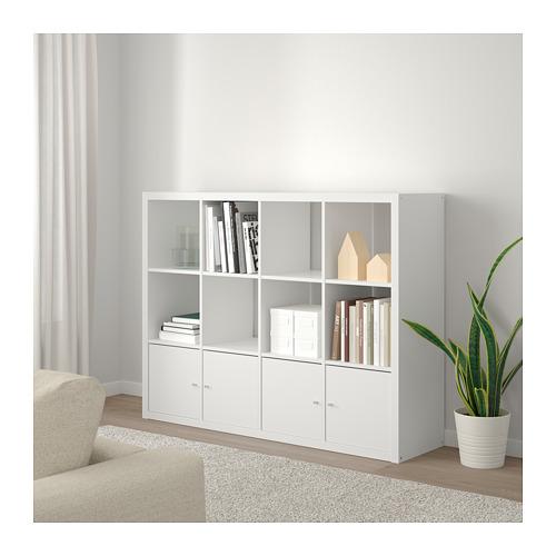 KALLAX - 層架組合連4個貯物格, 白色   IKEA 香港及澳門 - PE689114_S4