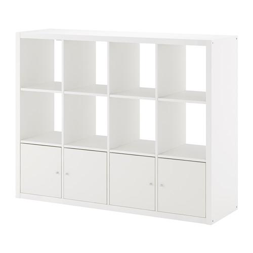 KALLAX shelving unit with 4 inserts