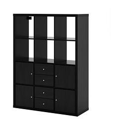KALLAX - 6格層架組合, 棕黑色 | IKEA 香港及澳門 - PE689118_S3
