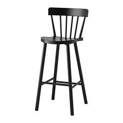 NORRARYD - 高腳凳連靠背, 黑色 | IKEA 香港及澳門 - PE689185_S3