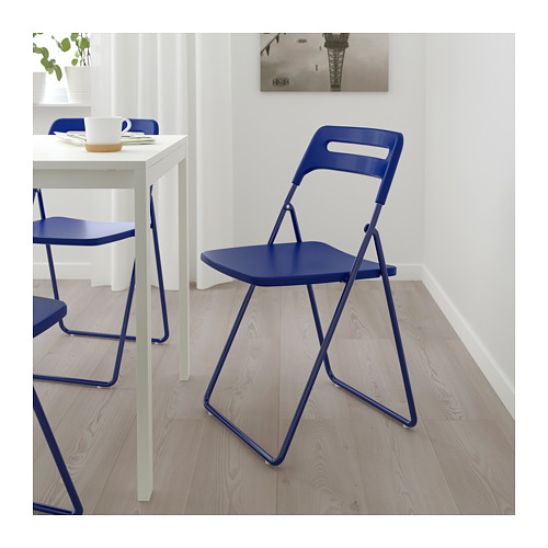 NISSE/MELLTORP - table and 2 folding chairs, white/dark blue-lilac | IKEA Hong Kong and Macau - PE689193_S4