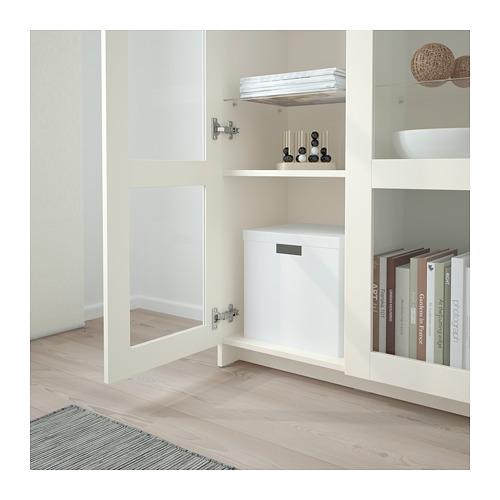 BRIMNES - cabinet with doors, glass/white | IKEA Hong Kong and Macau - PE689195_S4