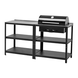 GRILLSKÄR - kitchen with charcoal bbq, outdoor, stainless steel | IKEA Hong Kong and Macau - PE786646_S3