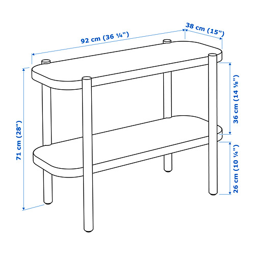 LISTERBY - console table, brown | IKEA Hong Kong and Macau - PE732144_S4