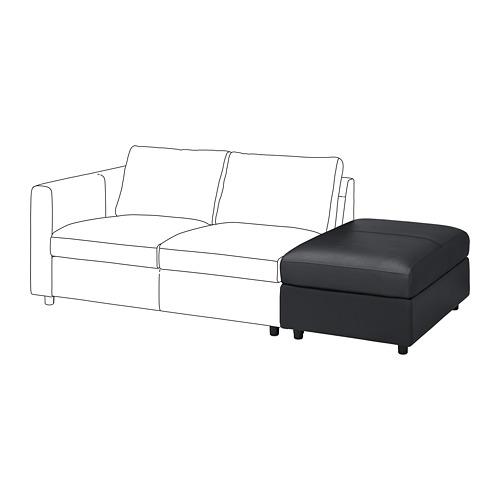 VIMLE - footstool with storage, Grann/Bomstad black | IKEA Hong Kong and Macau - PE774849_S4