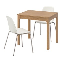 LEIFARNE/EKEDALEN - table and 2 chairs, oak/white | IKEA Hong Kong and Macau - PE641849_S3