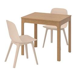 ODGER/EKEDALEN - 一檯兩椅, 橡木/白色 米黃色 | IKEA 香港及澳門 - PE641851_S3