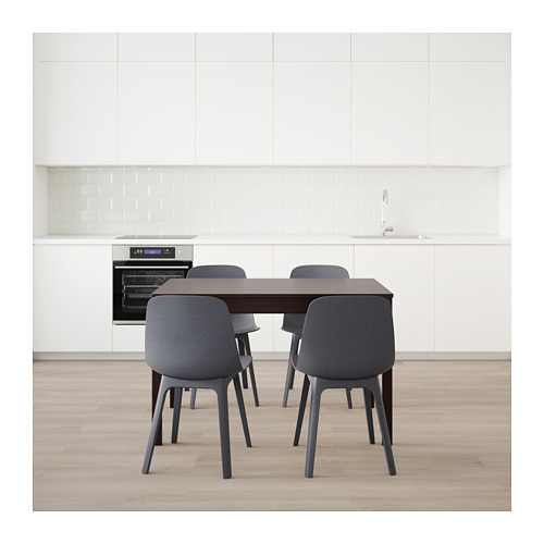 ODGER/EKEDALEN - table and 4 chairs, dark brown/blue | IKEA Hong Kong and Macau - PE641865_S4