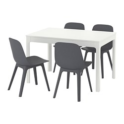 ODGER/EKEDALEN - table and 4 chairs, white/blue | IKEA Hong Kong and Macau - PE641881_S3