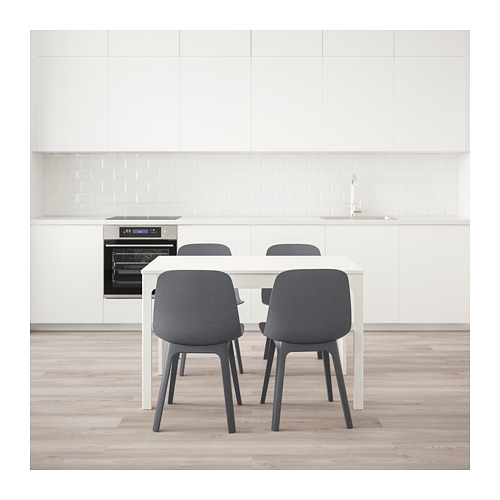 ODGER/EKEDALEN - table and 4 chairs, white/blue | IKEA Hong Kong and Macau - PE641880_S4
