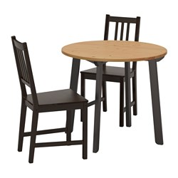 STEFAN/GAMLARED - table and 2 chairs, light antique stain/brown-black | IKEA Hong Kong and Macau - PE641936_S3