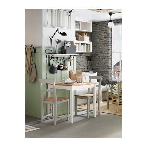 LERHAMN - table, light antique stain/white stain | IKEA Hong Kong and Macau - PH126586_S4
