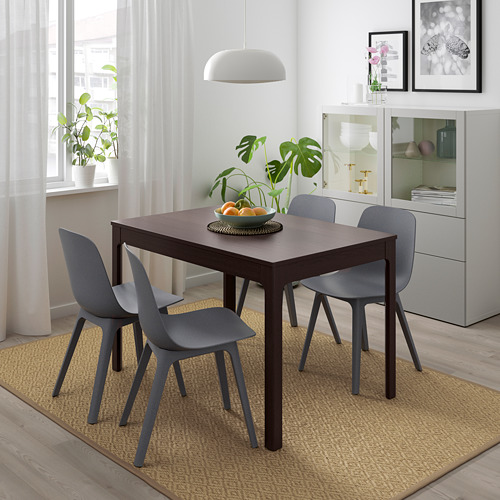 ODGER/EKEDALEN - table and 4 chairs, dark brown/blue | IKEA Hong Kong and Macau - PE732338_S4