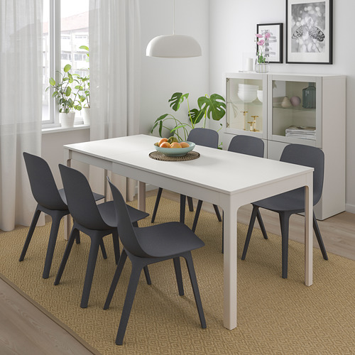ODGER/EKEDALEN - table and 4 chairs, white/blue | IKEA Hong Kong and Macau - PE732340_S4