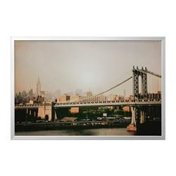 BJÖRKSTA - picture with frame, Manhattan Bridge/aluminium-colour | IKEA Hong Kong and Macau - PE786791_S3