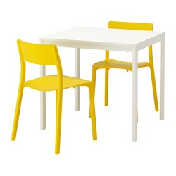 JANINGE/VANGSTA - table and 2 chairs, white/yellow | IKEA Hong Kong and Macau - PE641944_S3