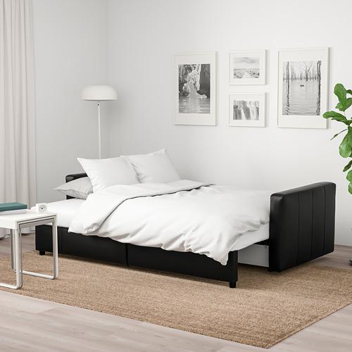 FRIHETEN three-seat sofa-bed with storage, Bomstad black