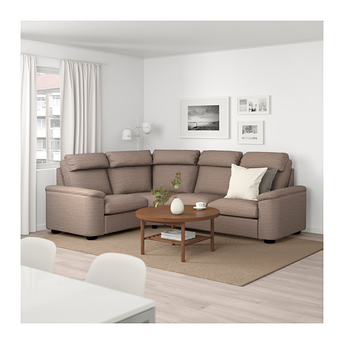 LIDHULT - corner sofa, 4-seat, Lejde beige/brown | IKEA Hong Kong and Macau - PE689394_S4