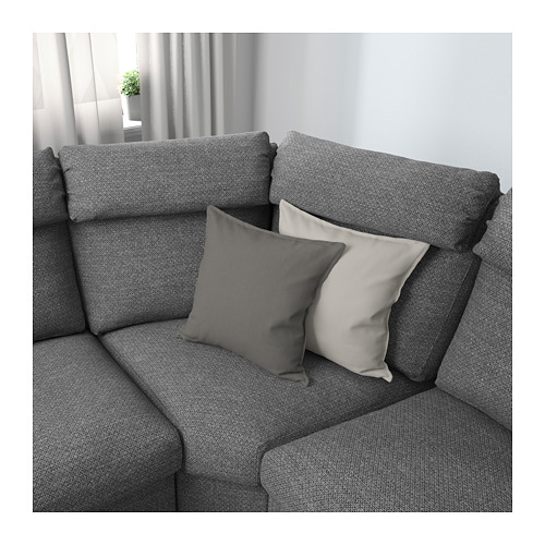 LIDHULT - corner sofa, 5-seat, with open end/Lejde grey/black | IKEA Hong Kong and Macau - PE689398_S4