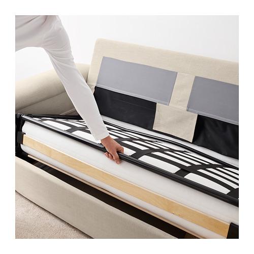 LIDHULT - 2-seat sofa-bed, Gassebol light beige | IKEA Hong Kong and Macau - PE706096_S4