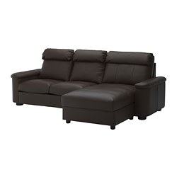 LIDHULT - 3-seat sofa-bed, with chaise longue/Grann/Bomstad dark brown | IKEA Hong Kong and Macau - PE689434_S3