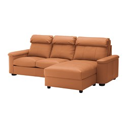 LIDHULT - 3-seat sofa, with chaise longue/Grann/Bomstad golden-brown | IKEA Hong Kong and Macau - PE689437_S3