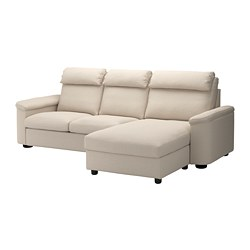 LIDHULT - 3-seat sofa-bed, with chaise longue/Gassebol light beige | IKEA Hong Kong and Macau - PE689443_S3