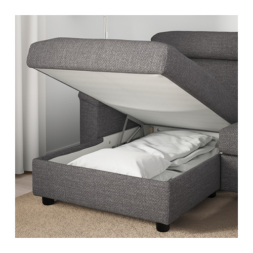 LIDHULT - 四座位梳化, 連躺椅/Lejde 灰色/黑色 | IKEA 香港及澳門 - PE689450_S4