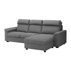 LIDHULT - 3-seat sofa-bed, with chaise longue/Lejde grey/black | IKEA Hong Kong and Macau - PE689449_S3