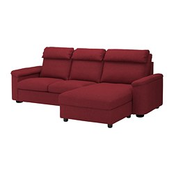 LIDHULT - 3-seat sofa-bed, with chaise longue/Lejde red-brown | IKEA Hong Kong and Macau - PE689452_S3