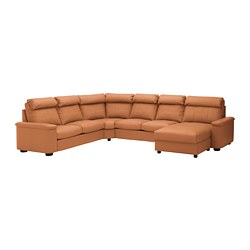 LIDHULT - corner sofa-bed, 6-seat, with chaise longue/Grann/Bomstad golden-brown | IKEA Hong Kong and Macau - PE689456_S3