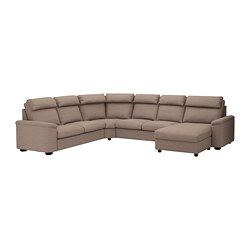 LIDHULT - corner sofa-bed, 6-seat, with chaise longue/Lejde beige/brown   IKEA Hong Kong and Macau - PE689464_S3
