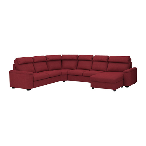 LIDHULT - corner sofa, 6-seat, with chaise longue/Lejde red-brown | IKEA Hong Kong and Macau - PE689468_S4